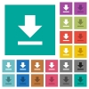 Download square flat multi colored icons - Download multi colored flat icons on plain square backgrounds. Included white and darker icon variations for hover or active effects.