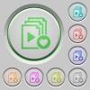 Favorite playlist push buttons - Favorite playlist color icons on sunk push buttons