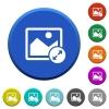 Resize image large beveled buttons - Resize image large round color beveled buttons with smooth surfaces and flat white icons