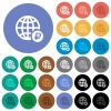 Online Ruble payment round flat multi colored icons - Online Ruble payment multi colored flat icons on round backgrounds. Included white, light and dark icon variations for hover and active status effects, and bonus shades on black backgounds.