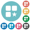 Rank component flat round icons - Rank component flat white icons on round color backgrounds