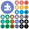 Upload plugin round flat multi colored icons - Upload plugin multi colored flat icons on round backgrounds. Included white, light and dark icon variations for hover and active status effects, and bonus shades on black backgounds.