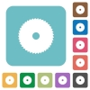 Circular saw rounded square flat icons - Circular saw white flat icons on color rounded square backgrounds