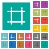 Adjust canvas size square flat multi colored icons - Adjust canvas size multi colored flat icons on plain square backgrounds. Included white and darker icon variations for hover or active effects.