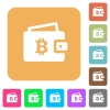 Bitcoin wallet rounded square flat icons - Bitcoin wallet flat icons on rounded square vivid color backgrounds.
