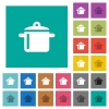 Cooking square flat multi colored icons - Cooking multi colored flat icons on plain square backgrounds. Included white and darker icon variations for hover or active effects.