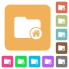 Home directory rounded square flat icons - Home directory flat icons on rounded square vivid color backgrounds.