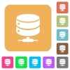 Network database rounded square flat icons - Network database flat icons on rounded square vivid color backgrounds.