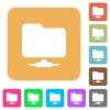 Network folder rounded square flat icons - Network folder flat icons on rounded square vivid color backgrounds.