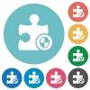 Plugin protection flat round icons - Plugin protection flat white icons on round color backgrounds