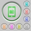 Mobile wallet push buttons - Mobile wallet color icons on sunk push buttons