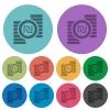 Israeli new Shekel coins color darker flat icons - Israeli new Shekel coins darker flat icons on color round background