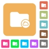 Cloud directory rounded square flat icons - Cloud directory flat icons on rounded square vivid color backgrounds.