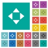 Control arrows square flat multi colored icons - Control arrows multi colored flat icons on plain square backgrounds. Included white and darker icon variations for hover or active effects.