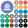 Text align center round flat multi colored icons - Text align center multi colored flat icons on round backgrounds. Included white, light and dark icon variations for hover and active status effects, and bonus shades on black backgounds.