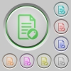 Tagging document push buttons - Tagging document color icons on sunk push buttons