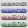 Pound Lira money exchange icons on horizontal menu bars - Pound Lira money exchange icons on rounded horizontal menu bars in different colors and button styles
