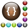 Programming code color glass buttons - Programming code white icons on round color glass buttons