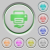 Shared printer push buttons - Shared printer color icons on sunk push buttons