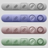 Link icons on horizontal menu bars - Link icons on rounded horizontal menu bars in different colors and button styles