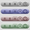 Delete note icons on horizontal menu bars - Delete note icons on rounded horizontal menu bars in different colors and button styles