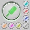 Ice lolly push buttons - Ice lolly color icons on sunk push buttons