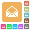Open mail rounded square flat icons - Open mail flat icons on rounded square vivid color backgrounds.