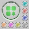 Component alert push buttons - Component alert color icons on sunk push buttons