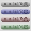Database macro fast forward icons on horizontal menu bars - Database macro fast forward icons on rounded horizontal menu bars in different colors and button styles