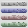 lock contact icons on horizontal menu bars - lock contact icons on rounded horizontal menu bars in different colors and button styles