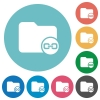 Link directory flat round icons - Link directory flat white icons on round color backgrounds