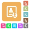 Download contact rounded square flat icons - Download contact flat icons on rounded square vivid color backgrounds.