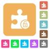 Unlock plugin flat icons on rounded square vivid color backgrounds. - Unlock plugin rounded square flat icons