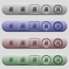Micro SD memory card icons on horizontal menu bars - Micro SD memory card icons on rounded horizontal menu bars in different colors and button styles