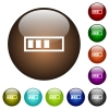 Progressbar color glass buttons - Progressbar white icons on round color glass buttons
