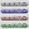Undo note changes icons on horizontal menu bars - Undo note changes icons on rounded horizontal menu bars in different colors and button styles