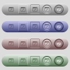 Application edit icons on horizontal menu bars - Application edit icons on rounded horizontal menu bars in different colors and button styles