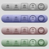 Indian Rupee bank office icons on horizontal menu bars - Indian Rupee bank office icons on rounded horizontal menu bars in different colors and button styles