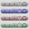 Eco energy icons on rounded horizontal menu bars in different colors and button styles - Eco energy icons on horizontal menu bars
