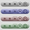 Rank directory icons on horizontal menu bars - Rank directory icons on rounded horizontal menu bars in different colors and button styles