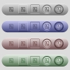 Marked contact icons on horizontal menu bars - Marked contact icons on rounded horizontal menu bars in different colors and button styles