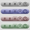 Database cancel icons on horizontal menu bars - Database cancel icons on rounded horizontal menu bars in different colors and button styles