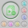 Playlist fast forward push buttons - Playlist fast forward color icons on sunk push buttons