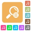 Search options rounded square flat icons - Search options flat icons on rounded square vivid color backgrounds.