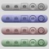 Israeli new Shekel bag icons on horizontal menu bars - Israeli new Shekel bag icons on rounded horizontal menu bars in different colors and button styles