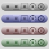SD memory card icons on horizontal menu bars - SD memory card icons on rounded horizontal menu bars in different colors and button styles