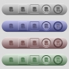 Database cut icons on horizontal menu bars - Database cut icons on rounded horizontal menu bars in different colors and button styles