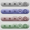 Home directory icons on horizontal menu bars - Home directory icons on rounded horizontal menu bars in different colors and button styles