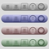 Passport icons on horizontal menu bars - Passport icons on rounded horizontal menu bars in different colors and button styles