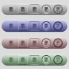 Database macro stop icons on horizontal menu bars - Database macro stop icons on rounded horizontal menu bars in different colors and button styles